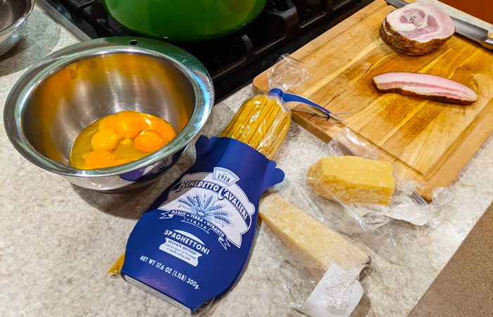 Ingredients for Carbonara
